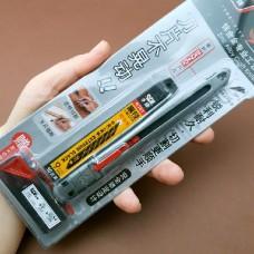 Нож для кожиSDI  Locking Craft Knife металлический корпус с фиксацией лезвия + лезвия + контейнер. ПРОМО-набор!