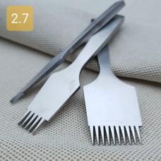 Набор пробойников шаговых 2+5+10 зубов. Шаг 2.7 мм. Французский стиль.
