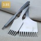 Набор пробойников шаговых 2+5+10 зубов. Шаг 3.85 мм. Французский стиль.