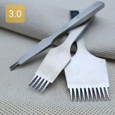 Набор пробойников шаговых 2+5+10 зубов. Шаг 3.0 мм. Французский стиль.