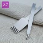 Набор пробойников шаговых 2+8 зубов. Шаг 2.7 мм. Корейский стиль.