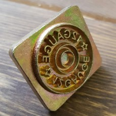 Штамп для тиснения по коже 3D под рукоять 9 мм. Оттиск  27х27 мм. 12 Gauge.