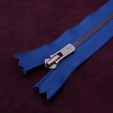 Молния YKK Excella single №2  20 см. старая латунь синий цвет.