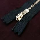 Молния YKK Excella single №2  20 см. латунь чёрный цвет.