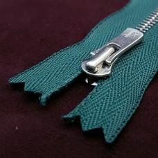 Молния YKK Excella single №2  20 см. антиникель зелёный цвет.