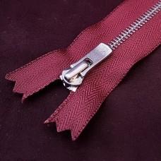 Молния YKK Excella single №2  20 см. антиникель бордовый цвет.