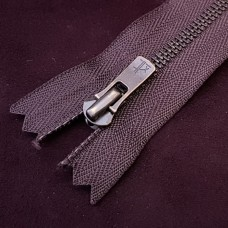 Молния YKK Excella single №2  20 см. старая латунь тёмно-коричневый цвет.