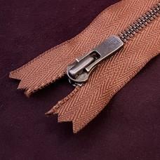 Молния YKK Excella single №2  20 см. старая латунь коричневый цвет.