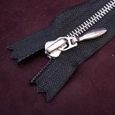 Молния YKK Excella single №2  20 см. антиникель чёрный цвет (пулер капля).
