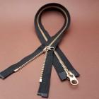 Молния YKK Excella double №5 60 см. латунь чёрный цвет. Симметрика разъёмная двухзамковая!