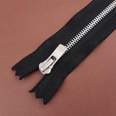 Молния YKK Excella single №2  20 см. антиникель чёрный цвет.