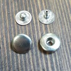 """Фурнитура - кнопка """"Альфа"""". Размер 10.0 мм. 100% латунь + НИКЕЛЬ."""