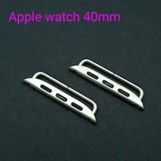 Фурнитура - коннекторы PREMIUM для Apple watch 40 мм. Цвет серебро.