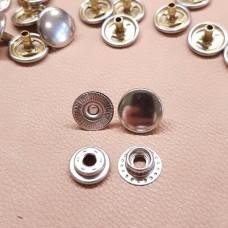 """Фурнитура - кнопка """"Зажим с кольцом"""". Размер 12.7 мм. 100% латунь + НИКЕЛЬ."""
