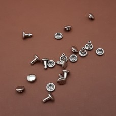 Фурнитура - хольнитен двухсторонний. 100% латунь с никелевым покрытием, 6х6.4 мм. 10 шт.