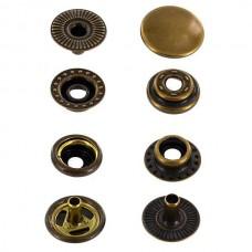 """Фурнитура - кнопка """"Зажим с кольцом"""". Размер 12.7 мм. 100% латунь + БРОНЗА."""