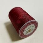 Нитки для кожи вощёные GALACES 0.5 мм. 120 м. плетёные круглые. Бордовый.