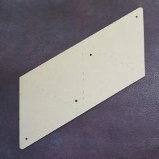 Шаблон трафарет (выкройка) из оргстекла для изготовления треугольного монетника 90 мм.