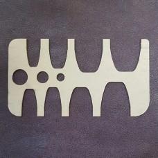 Шаблон трафарет (выкройка) из оргстекла для отсечки ремней от 18 до 40 мм.