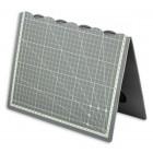 Коврик непрорезаемый - мат для резки и раскроя 30*45 см. Серый с разметкой.