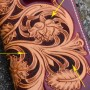 Краска для кожи японская на водной основе, техника Leather Batik 100 мл.