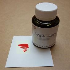 Краска для кожи жидкая TOLEDO SUPER с анилиновым эффектом цвет красный 100 гр. Kenda Farben.