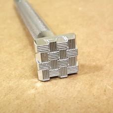 """Штамп для тиснения по коже """"Плитка K146"""" 14х14 мм."""