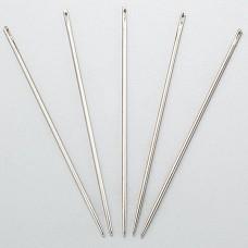 Иглы для кожи - набор из 5 игл с затупленными кончиками, для седельного шва японские для ниток 0.8-1.0 мм.