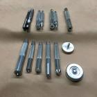 Набор инструментов для установки люверсов, хольнитенов и блочек, кнопок 14 предметов малый.