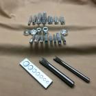 Набор инструментов для установки люверсов, хольнитенов и блочек, кнопок 24 предмета расширенный.