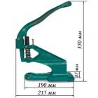 Пресс для установки фурнитуры промышленный. Link-link зелёный корпус, металл.
