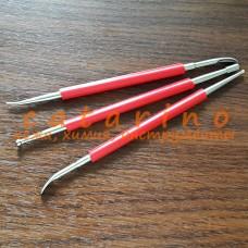 Кардины (набор из 3 штук) для художественной обработки кожи.