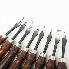 Торцбил - кромкорез для края кожи профессиональный плоский №4 (1.4 мм.).