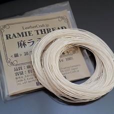 Нитки для шитья кожи, традиционные японские РАМИ-ЭКО - 25 метров. № 16/5 глазированные.