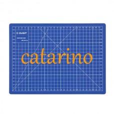Коврик непрорезаемый - мат для резки и раскроя 45*60 см. с угломером.