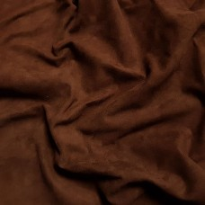 Замша велюр козлёнок высший сорт. Около 0.4 мм. 42 дец. Brown.