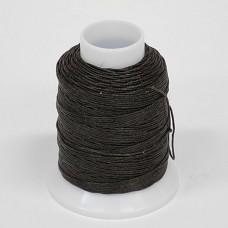 Нитки для шитья кожи, традиционные японские РАМИ-ЭКО  - 90 метров. № 16/4. Тёмно-коричневый.