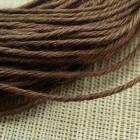 Нитки для шитья кожи, традиционные японские РАМИ-ЭКО - 25 метров. № 16/5 вощёные. Тёмно-коричневый.