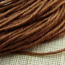 Нитки для шитья кожи, традиционные японские РАМИ-ЭКО - 25 метров. № 16/5 вощёные. Красно-коричневый.
