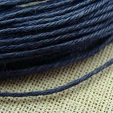 Нитки для шитья кожи, традиционные японские РАМИ-ЭКО - 25 метров. № 16/5 вощёные. Нави.