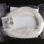 Нитки для шитья кожи, традиционные японские РАМИ-ЭКО вощёные - 30 метров, 20/3 Medium, белый цвет.