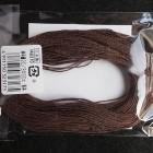 Нитки для шитья кожи, традиционные японские РАМИ-ЭКО вощёные - 30 метров, 20/3 Medium, тёмно-коричневый цвет.
