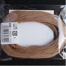 Нитки для шитья кожи, традиционные японские РАМИ-ЭКО вощёные - 30 метров, 20/3 Medium, коричневый цвет.