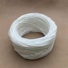 Нитки для шитья кожи вощёные, плетёные URSA. Полиэстер 30 метров, толщина 1.0 Цвет - Белый.