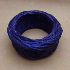 Нитки для шитья кожи вощёные, плетёные URSA. Полиэстер 30 метров, толщина 1.0 Цвет - Синий.