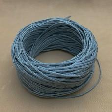 Нитки для шитья кожи вощёные, плетёные URSA. Полиэстер 30 метров, толщина 1.0 Цвет - Серый.
