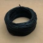 Нитки для шитья кожи вощёные, плетёные URSA. Полиэстер 30 метров, толщина 1.0 Цвет - Чёрный.