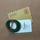 Нитки для кожи льняные FIL AU CHINOIS 0.77 мм. 10 метров. Цвет 767 - Vert.