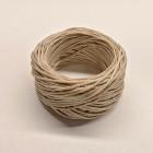 Нитки для шитья кожи вощёные, плетёные URSA. Полиэстер 30 метров, толщина 1.0 Цвет - Кремовый.