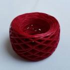 Нитки для шитья кожи вощёные, плетёные URSA. Полиэстер 30 метров, толщина 1.0 Цвет - Вишня.